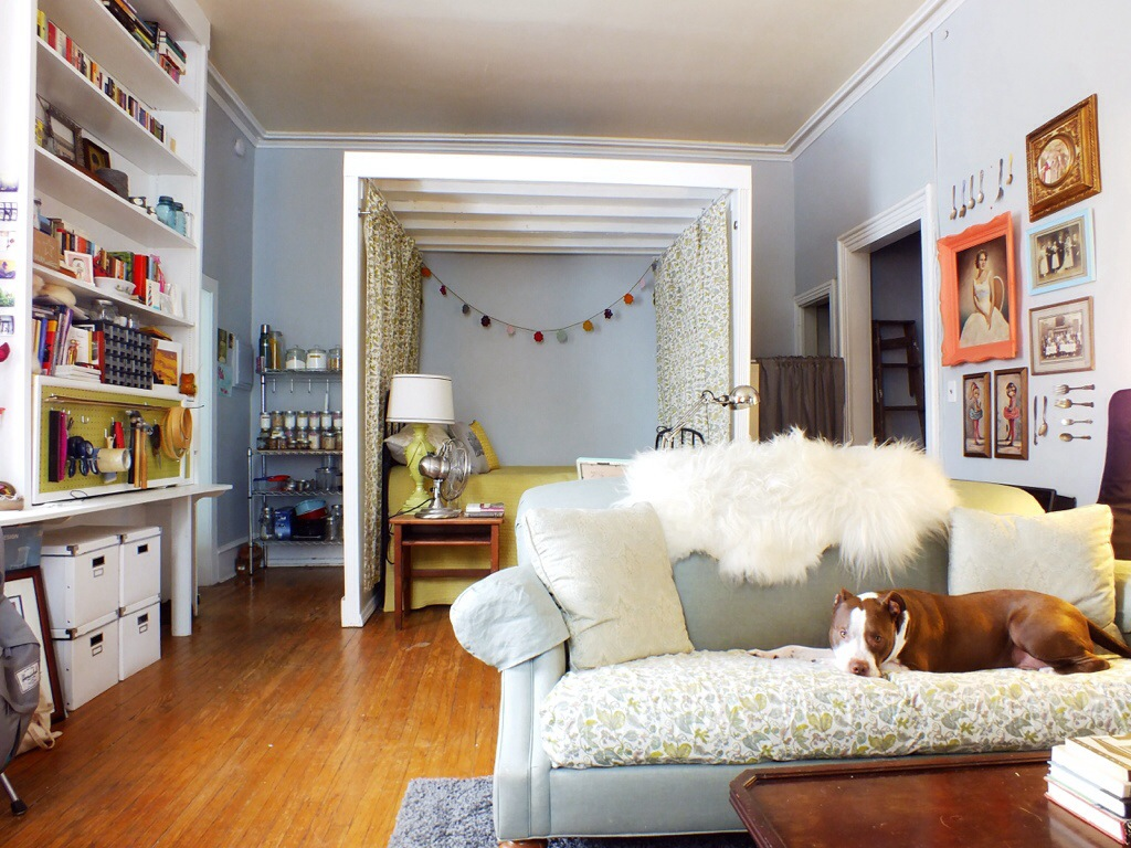 How i turned my studio apartment into a one bedroom the for Cute one bedroom apartment ideas