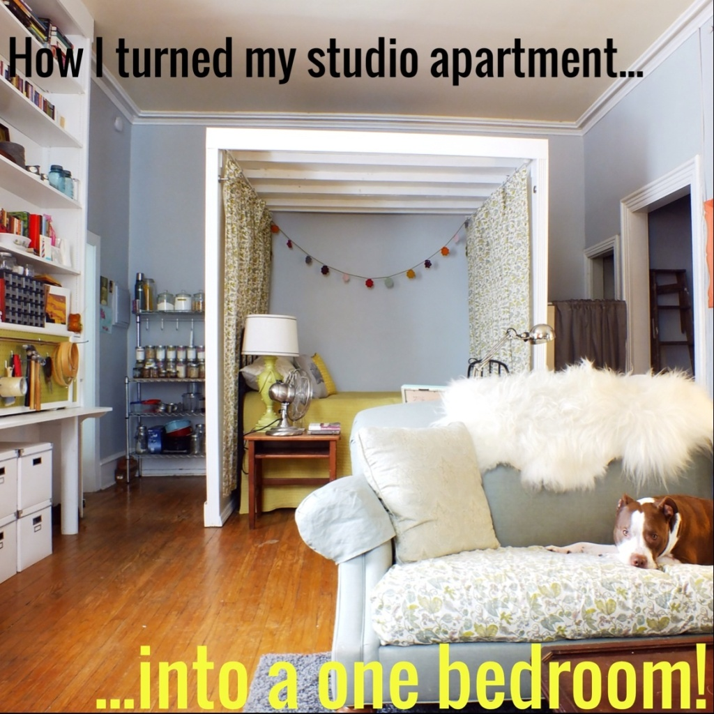 How I Turned My Studio Apartment Into A One Bedroom The Projectory