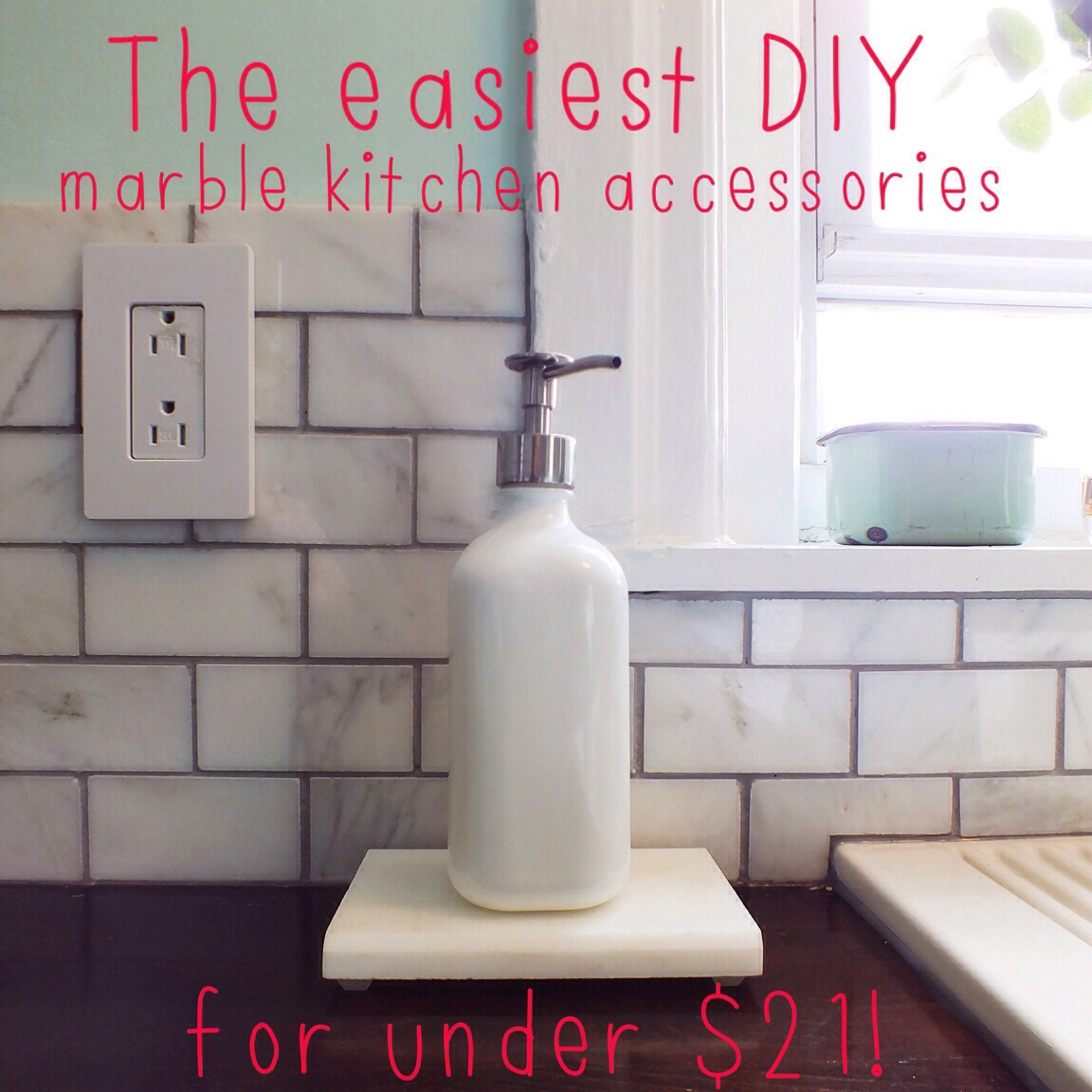marble kitchen accessories, a tutorial! | the projectory
