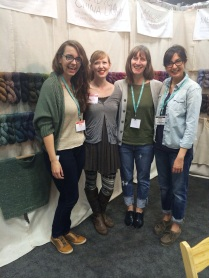 You know, just hanging with Bristol Ivy, Karen Templer of Fringe Association, and Anna of Tolt Yarn and Wool (insert the heart-eye emoji here).