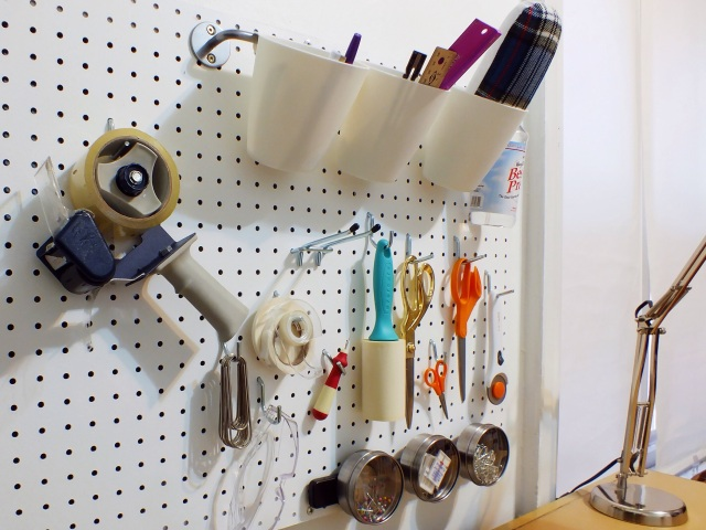 Craft room pegboard | The Projectory