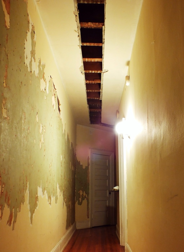hallway renovation progress
