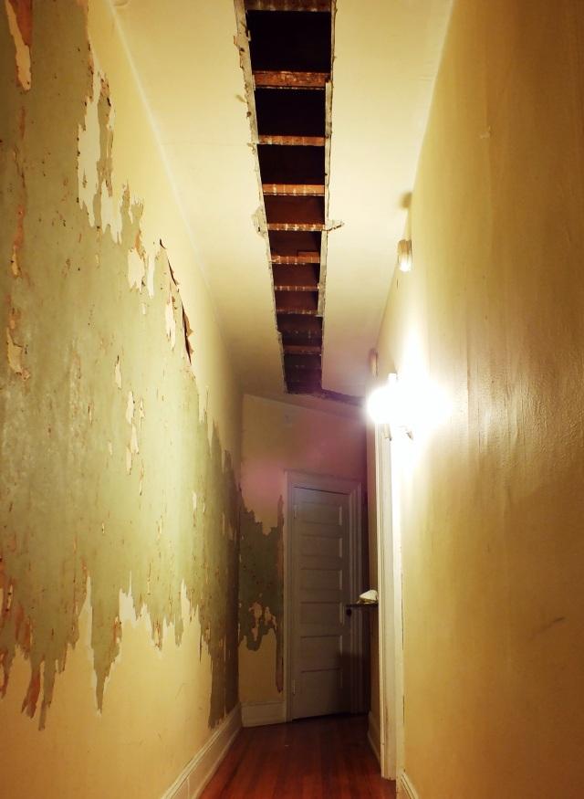 hallway renovation progress