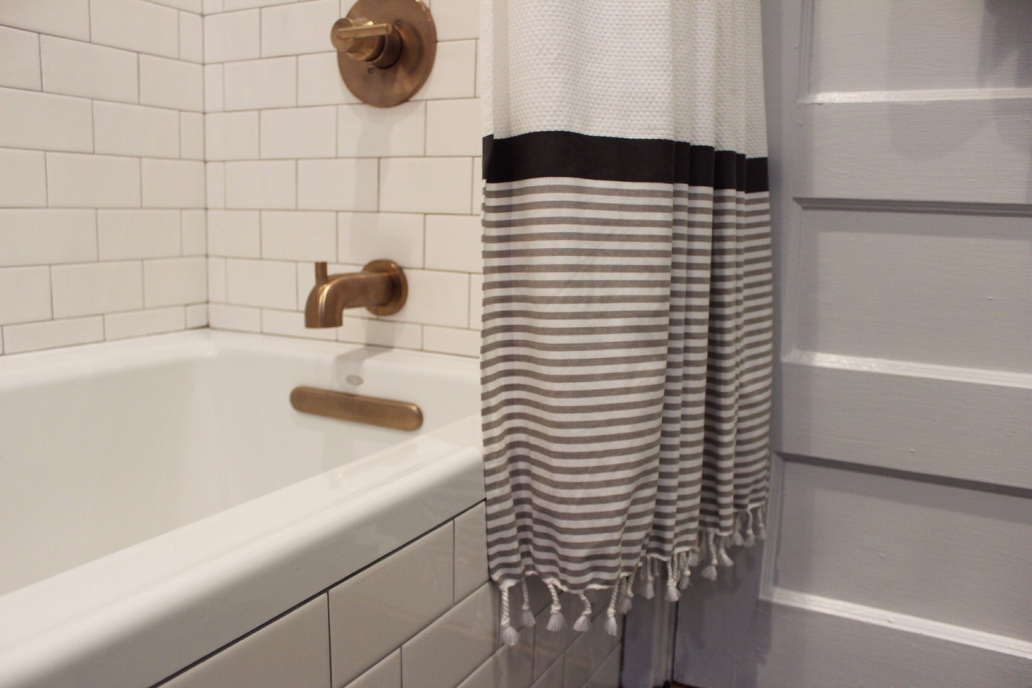Champagne Bronze Shower Curtain Rod