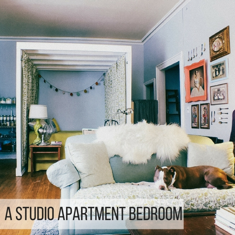 Studio Apartment Separation how i turned my studio apartment into a one bedroom | the projectory
